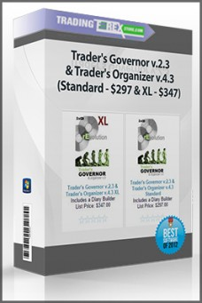 Trader's Governor v.2.3 & Trader's Organizer v.4.3 (Standard – $297 & XL – $347)
