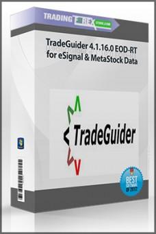 TradeGuider 4.1.16.0 EOD-RT for eSignal & MetaStock Data