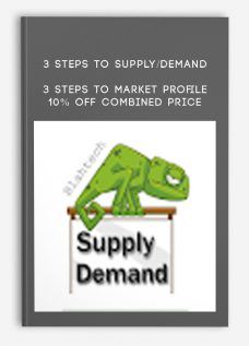 3 Steps To Supply/Demand + 3 Steps To Market Profile 10% Off Combined Price