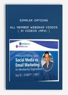 Simpler Options – All Member Webinar Videos [ 31 Videos (MP4) ]