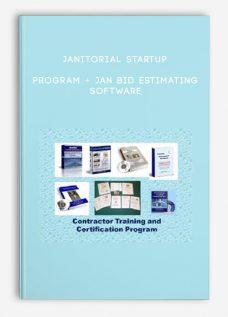 Janitorial Startup Program + JAN BID Estimating Software